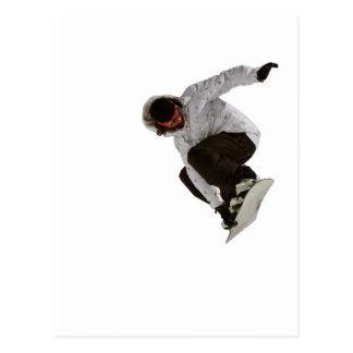 Freestyle snowboarder postcard