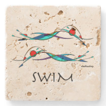 Freestyle Swim Duo Stone Coaster