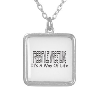 Freestyle Wrestling It s A Way Of Life Necklaces