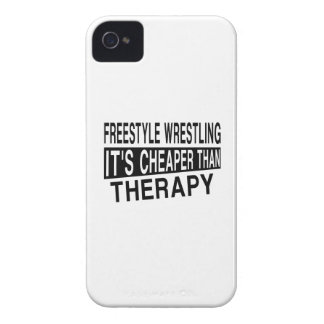FREESTYLE WRESTLING IT'S CHEAPER THAN THERAPY Case-Mate iPhone 4 CASE