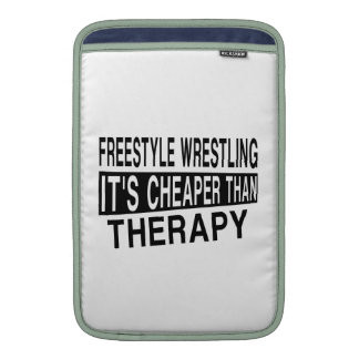 FREESTYLE WRESTLING IT'S CHEAPER THAN THERAPY SLEEVE FOR MacBook AIR