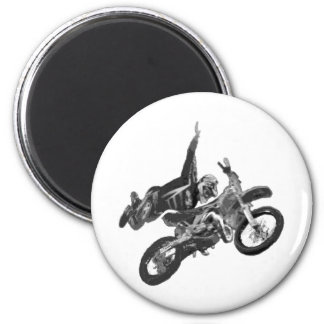Freestyling with dirt bike 2 inch round magnet