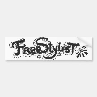 Freestylist 1 car bumper sticker