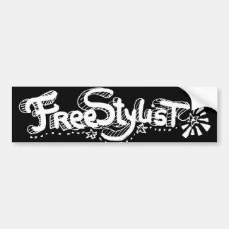 Freestylist 2 car bumper sticker