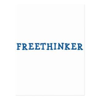 Freethinker (blue) postcard