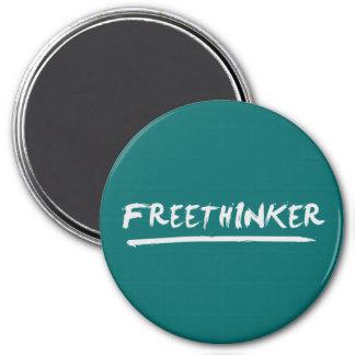 Freethinker Paintbrush 3 Inch Round Magnet