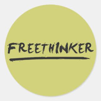 Freethinker Paintbrush Classic Round Sticker