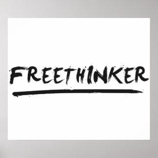Freethinker Paintbrush Poster