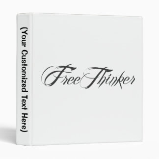 Freethinker Script 3 Ring Binder