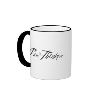 Freethinker Script Coffee Mugs