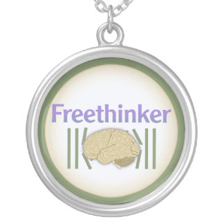 Freethinker (with brain breaking free) Necklace
