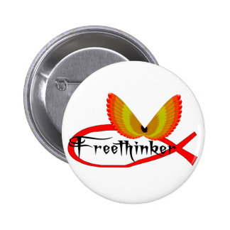 Freethinking Fish Symbol Button