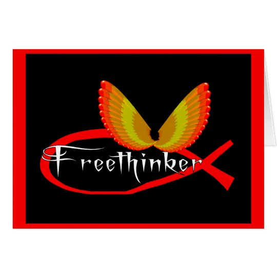 Freethinking Fish Symbol Card