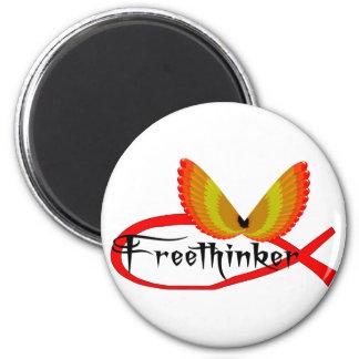 Freethinking Fish Symbol Magnet