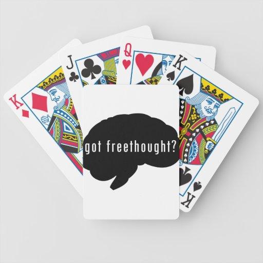 ¿Freethought conseguido? (Negro) Baraja Cartas De Poker