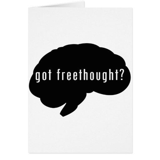 ¿Freethought conseguido? (Negro) Tarjetas