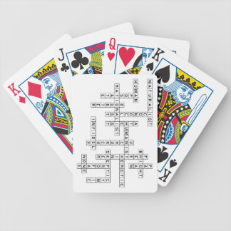 Freethought Crossword Bicycle Playing Cards