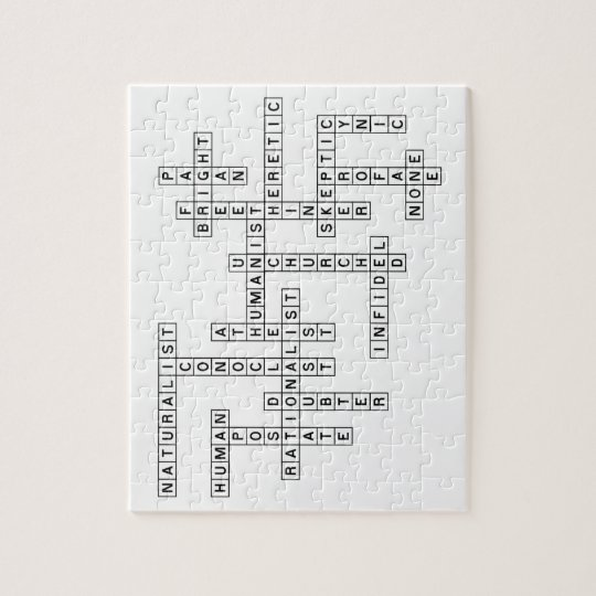 Freethought Crossword Jigsaw Puzzle