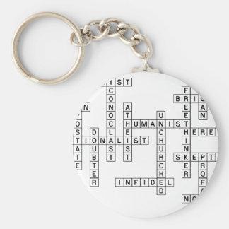Freethought Crossword Keychain
