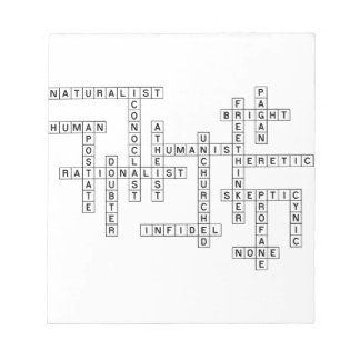 Freethought Crossword Memo Notepad