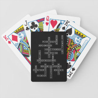 Freethought Crossword on Dark Bicycle Playing Cards