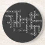 Freethought Crossword on Dark Coasters