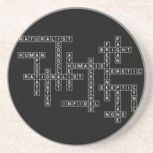 Freethought Crossword on Dark Coasters
