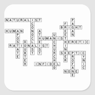 Freethought Crossword Square Sticker