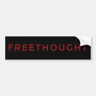 Freethought escéptico Bumperstickers Pegatina Para Auto