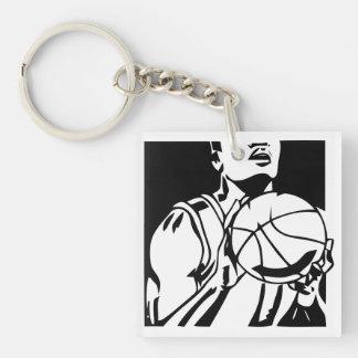 Freethrow Shooter Basketball Key Chain