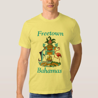 Freetown, Bahamas with Coat of Arms T-shirt