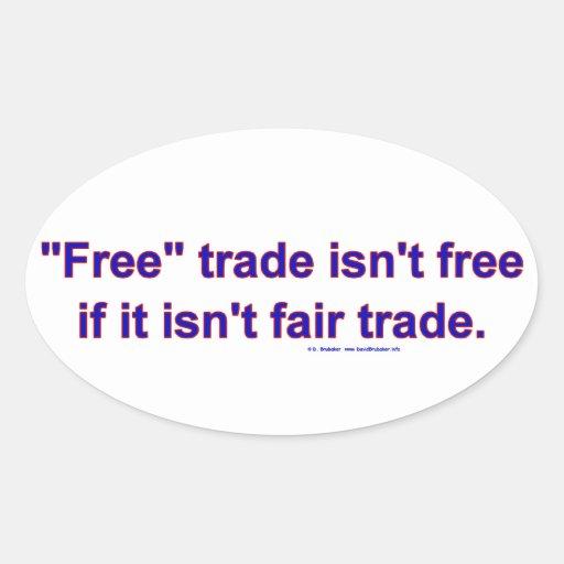 FreeTradeFairTrade Oval Sticker