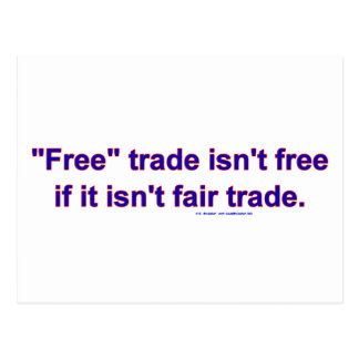 FreeTradeFairTrade Postcard