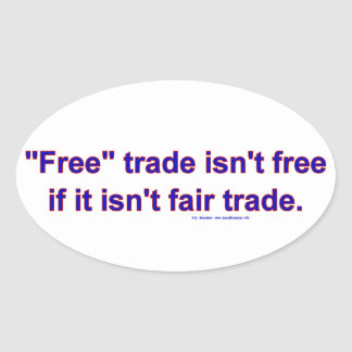 FreeTradeFairTrade Oval Stickers