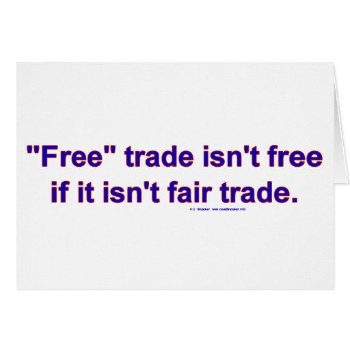 FreeTradeFairTrade Tarjeta De Felicitación