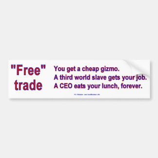 FreeTradeGizmo Bumper Sticker
