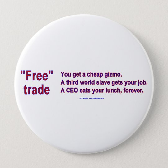 FreeTradeGizmo Pinback Button