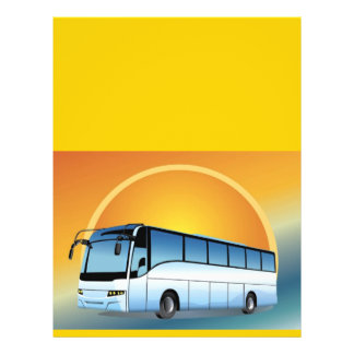 """FreeVector-Bus Transportation travel touring 8.5"""" X 11"""" Flyer"""
