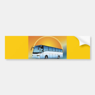 FreeVector-Bus Transportation travel touring Bumper Sticker