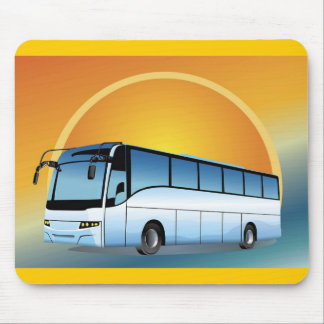 FreeVector-Bus Transportation travel touring Mouse Pads