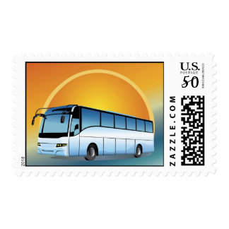 FreeVector-Bus Transportation travel touring Postage
