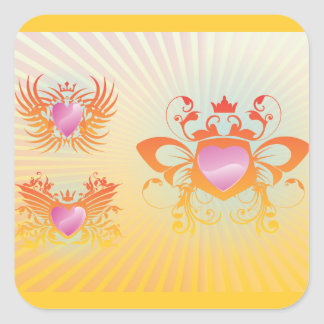 FreeVector-Cool-Shields.ai Square Sticker