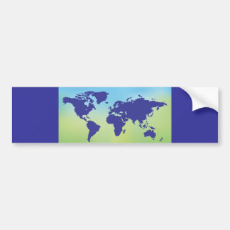 FreeVector-Earth-Vector.ai digital art maps causes Bumper Sticker