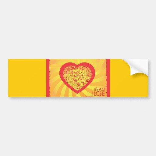 FreeVector-Grunge-Heart.ai Car Bumper Sticker