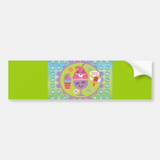 FreeVector-Ice-Cream-Cartoons cute kawaii graphics Bumper Sticker