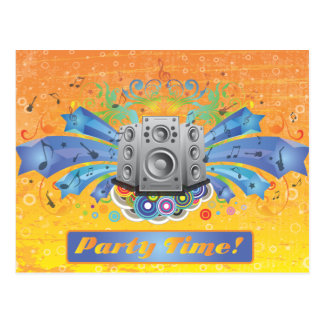 FreeVector-Party-Footage.ai Postcard