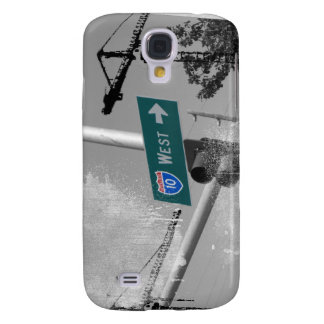 Freeway 10 West Sign Galaxy S4 Case