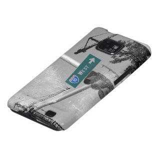 Freeway 10 West Sign Samsung Galaxy S2 Cases