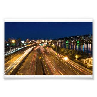 Freeway At Night Photo Print