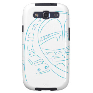 Freeway Cars Line Drawing Galaxy SIII Covers